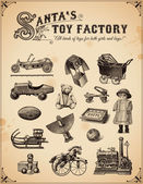 Collection of vintage toys — Stock Vector