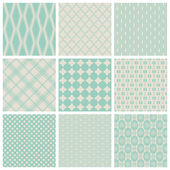 Set of seamless vintage patterns — Stock Vector