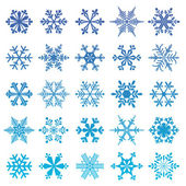 Snowflakes set — Stockvector