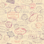 Background with vintage stamps — ストックベクタ