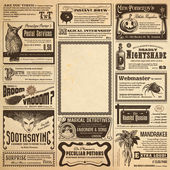 Wizarding newspaper page — Stock fotografie