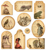 Fairy tale gift tags — Stock Photo