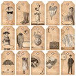 Vintage tags - fashion and accessories — Stock Photo