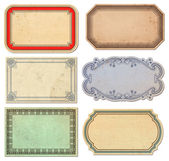 Set of vintage paper labels — Stock Photo