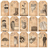 Vintage tags - fashion and accessories — Zdjęcie stockowe
