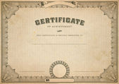 Vintage certificate template — Stock Photo