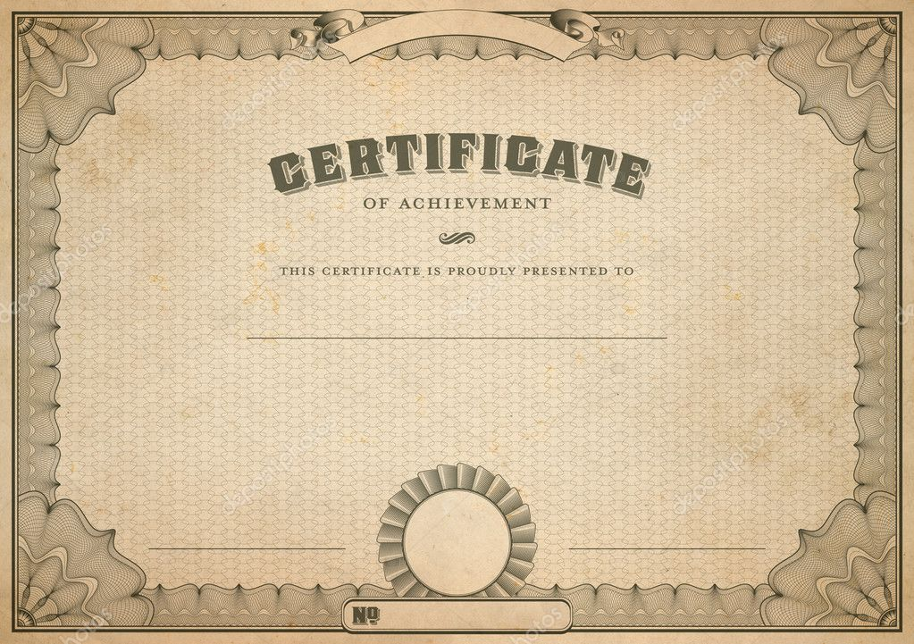 Certificate Of Appreciation Template With Gold Border