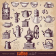 Coffee or tea - set of vintage elements — Stock Vector #49207435