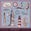 Set of lighthouses- vintage — Stock Vector #49207889