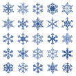 Collection of snowflakes — Stock Vector #49208299