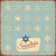 Retro snowflake collection — Stock Vector #49208301