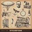 Steampunk design elements — Stock Vector #49208343