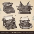 Vintage typewriters — Stock Vector #49208427