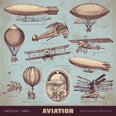 Set of aviation — Vector de stock