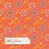 Colorful floral pattern — Vector de stock