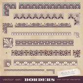 Set of bordersor frames for certificates — Stock vektor