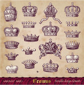Crowns set — Stockvector