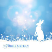 Easter background with bunny — Vecteur