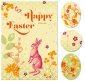 Easter greeting card — Stok Vektör