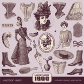 Ladies' Fashion and Accessories — Vector de stock