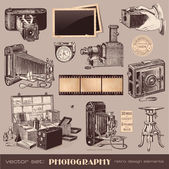Vintage photography set — Vetorial Stock