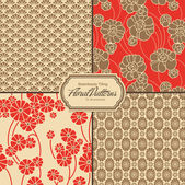 Floral patterns set — Vector de stock