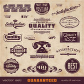 Vintage quality and service labels — Stock Vector