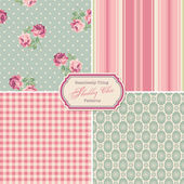Seamlessly tiling shabby chic patterns — Vector de stock