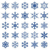 Collection of snowflakes — Vector de stock