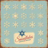 Retro snowflake collection — Stock Vector