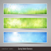 Soft nature banners — Vettoriale Stock
