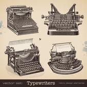 Vintage typewriters — Stock Vector