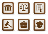 Law icons — Stock vektor