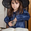 Little witch — Stock Photo