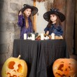 Two little witches — Stock Photo #12640476