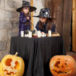 Two little witches — Foto de stock #12640505