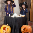 Two little witches — Stock Photo #12640506