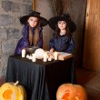 Two little witches — Foto de Stock