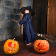 Little witch — Stock Photo #12640545