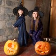 Two little witches — Foto Stock