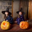 Two little witches — Stock Photo #12640552