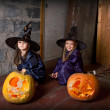 Two little witches — Stock Photo #12640553