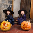Royalty-Free Stock Photo: Two little witches