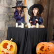 Two little witches — Stock Photo #12640559