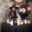 Two little witches — Stock Photo #12640585