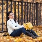 Fashion girl in autumn park — Stock Photo #16774773