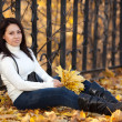 Stock Photo: Fashion girl in autumn park
