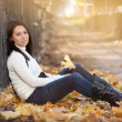 Fashion girl in autumn park — Stock Photo #16774803