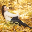 Stock Photo: Fashion girl in autumn wood