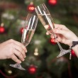 Christmas New Year's toast  — Stock Photo